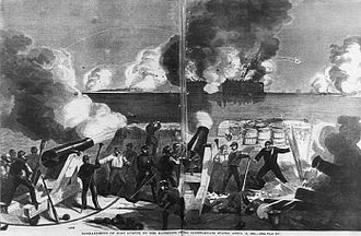 Battle of Fort Sumter - Bombardment of the Fort by the Confederates