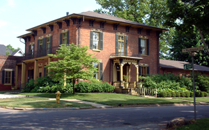 Attica, Indiana - A home in the historic district.