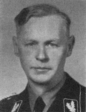 August Meyszner - August Meyszner wearing the rank of SS-Oberführer in 1938