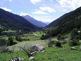Niederwald, Switzerland - View of the valley from Niederwald