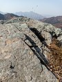 Autumn Red-Mountains Series - 3rd Going to the top of mountains - The hard life of moss on top rock.jpg