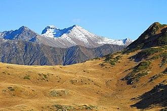Western Caucasus - The Western Caucasus as seen from peak Tabunnaya near Krasnaya Polyana