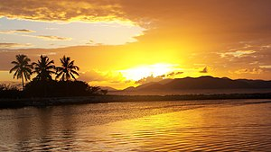 Sunset at Road Harbour, Virgin Gorda, British ...