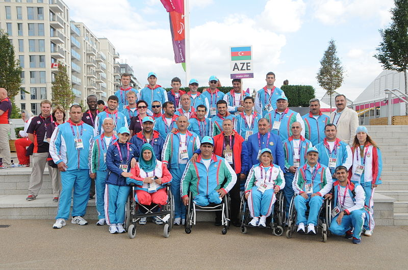 Azerbaijan team at the 2012 Summer Paralympics.JPG