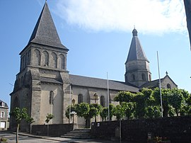 The church at Bénévent-l'Abbaye