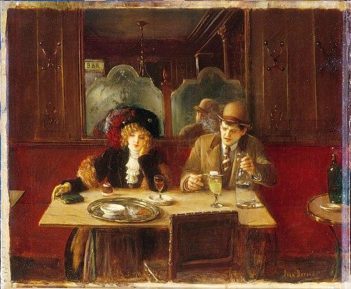 Béraud - Au café, dit l'Absinthe, Vers 1909