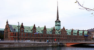 Copenhagen Stock Exchange - This building, Børsen, housed the Copenhagen Stock Exchange until 1974