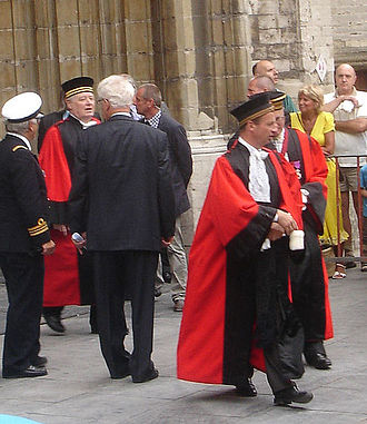 Judiciary of Belgium - Judges of Belgium leaving Ghent Cathedral after the solemn te Deum in honour of the National Holiday