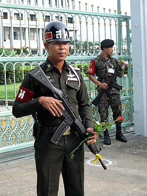 Heckler & Koch HK33 - A Thai Army Military Policeman with the HK33.