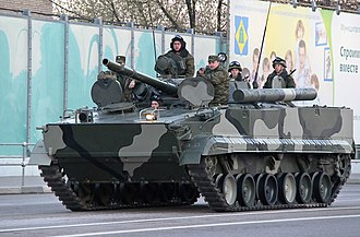 Infantry fighting vehicle - Russian BMP-3 with embarked infantrymen