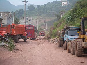 Badong County - G209 on the northern outskirts of Badong's county seat