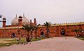 Badshahi Mosque, freedom and peace.JPG