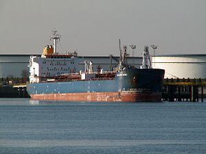 Baltic Wind IMO 9261401 at the Calland canal, Port of Rotterdam, Holland.jpg