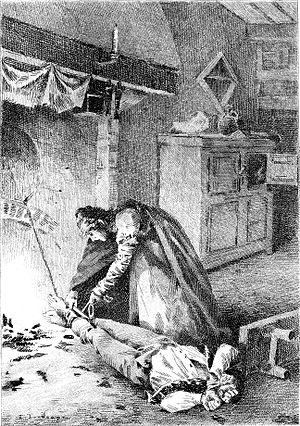 Illustration of Honoré de Balzac's The Chouans...