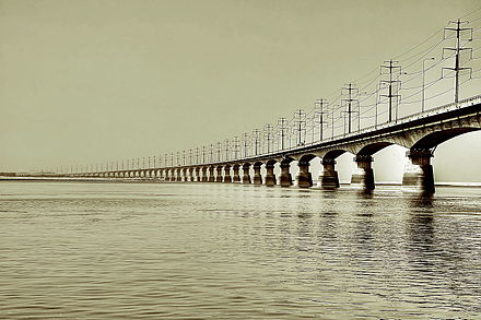 Bangabandhu Bridge, commonly called the Jamuna Multi-purpose Bridge, was the 11th longest bridge in the world and the 6th longest bridge in South Asia when constructed in 1998. Bangabandhu Bridge (Jamuna Multi-purpose Bridge).jpg