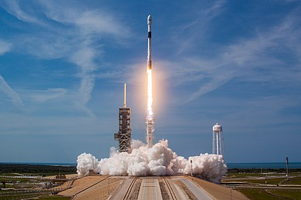 In 2018, the first payload of SpaceX's Falcon 9 Block 5 rocket was the Bangabandhu-1 satellite built by Thales Alenia Space Bangabandhu Satellite-1 Mission (42025498972).jpg