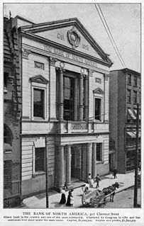 Bank of North America United States bank established in 1781