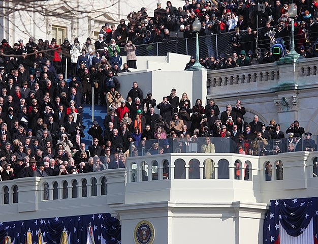 Photograph of Barack Hussein Obama's Presidential Inauguration Ceremony, via Wikimedia Commons