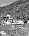 Barley harvest 1950 and Sekhar Gutog monastery in Lhodrag, Tibet (cropped).jpg