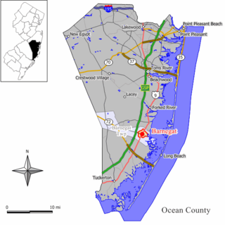Barnegat (CDP), New Jersey Census-designated place in New Jersey, United States