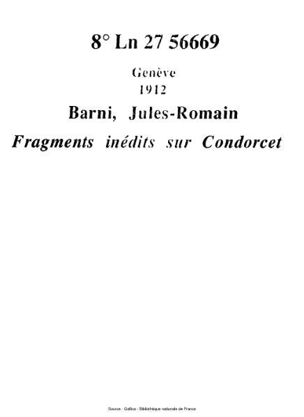 File:Barni - Fragments inédits sur Condorcet.djvu