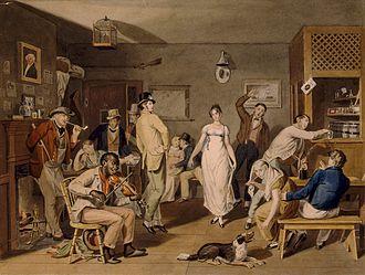 John Lewis Krimmel - Barroom Dancing (c. 1820)
