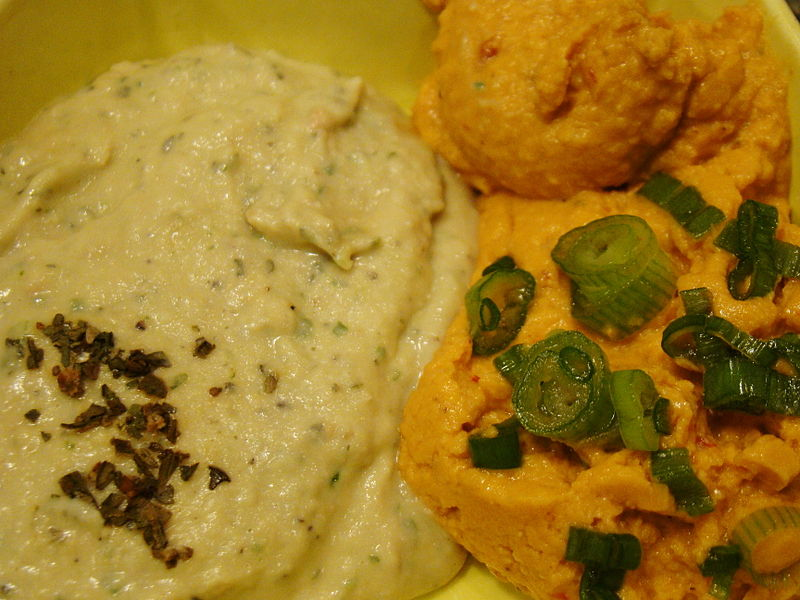 Description Basil White Bean Hummus and Chipotle Hummus (3618854542 ...