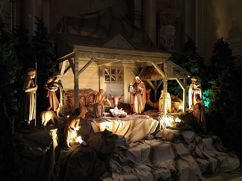 Santons et crèches de Noël  - Page 4 800px-Basilique-cath%C3%A9drale_Marie-Reine-du-Monde_de_Montr%C3%A9al%2C_Cr%C3%A8che_de_No%C3%ABl