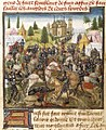 Battle of Hastings - Chronique de Normandie (15th C), f.160v - BL Yates Thompson MS 33.jpg