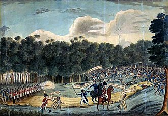 Military history of Australia - A painting depicting the Castle Hill convict rebellion in 1804.