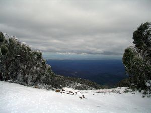 Mount Baw Baw - The view south across Gippsland from Mount Baw Baw