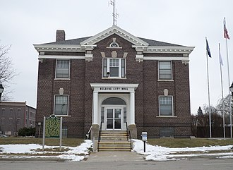 Belding, Michigan - Belding City Hall in January 2015
