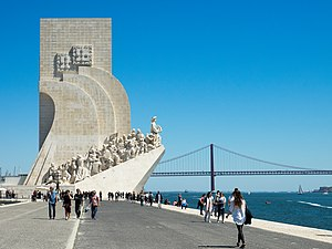 Padrão dos Descobrimentos - The Padrão dos Descobrimentos on the edge of the Tagus River, as seen along its western profile