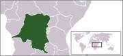 Belgian Congo locator map