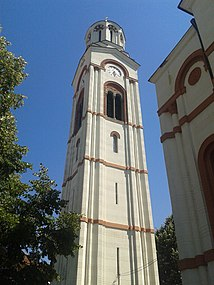Bell tower of Church of the Holy Trinity in Trstenik.jpg