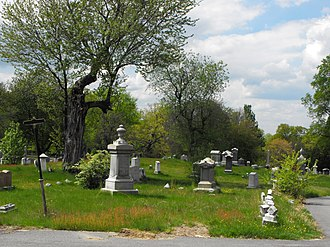 National Register of Historic Places listings in Methuen, Massachusetts - Image: Bellevue Cemetery Lawrence