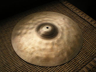 Cymbal manufacturers - Bellotti cymbal with typical hammered pattern
