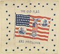 "Benjamin Harrison-Morton ""The Old Flag and Protection"" Portrait Handkerchief, 1888 (4360190498).jpg"