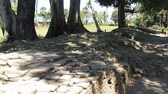 Gowa Regency - Wall being restored