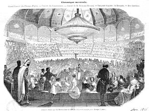 Cirque d'Été - Berlioz conducting a grand concert at the Cirque Olympiqe on the Champs-Élysées (January 1845)