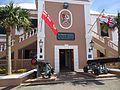 Bermuda (UK) Number 163 building in St. George's square with cannons.jpg