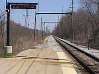Beverly Shores South Shore Railroad Station -Platform P4080030.JPG