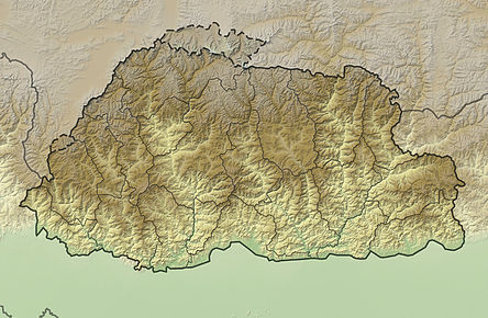 Bhutan relief location map.jpg