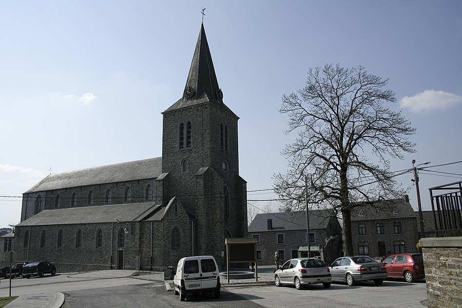 Bièvre  (Belgium),  the St. Hubert church (1894).
