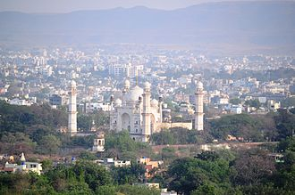 Bibi Ka Maqbara - Bird's eye view of the Bibi Ka Maqbara