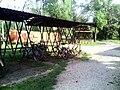 Bicycle racks, Nagyút station.jpg