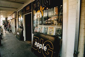 Dubstep - The Big Apple Records shop, in Croydon, South London.