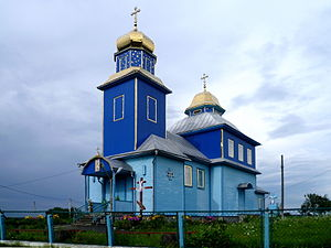 Bilychi Ivanychivskyi Volynska-Mykhailivska church-south-west view.jpg