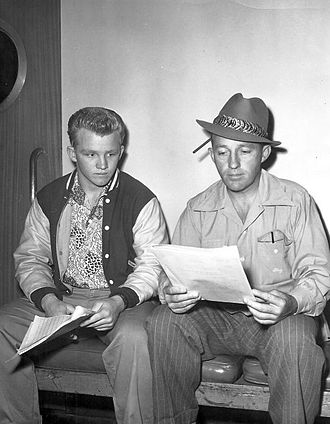 Gary Crosby (actor) - Gary with father, Bing in 1951