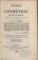 Biot - Essai de géométrie analytique, appliquée aux courbes et aux surfaces du second ordre, 1826 - 755044.tif